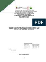 """DISEÑO DE LA ESTRUCTURA ORGANIZATIVA PARA EMPRESA """"CASA MARIBEL"""" UBICADA EN EL SECTOR DEL CONSEJO COMUNAL VISTA ALEGRE """"B"""" DE ANACO, EDO. ANZOATEGUI"""
