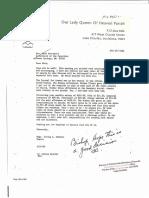 Bishop Speyrer Letter to Mark Broussard