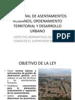 Ley General de Asentamientos Humanos, Ordenamiento Territorial
