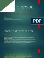 Decreto 1295 de 1994 Juana Segura Florez.