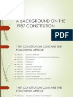 A Background on the 1987 Constitution