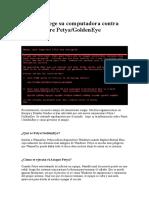 Cómo Protege Su Computadora Contra Ransomware Petya