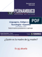 Determinativos Possessivos e Apócope