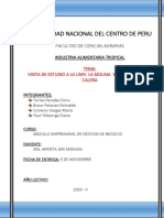 Sector de Panificación de Panadería de La Universidad Agraria La Molina