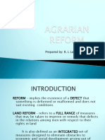 Agrarian Reform- Introduction