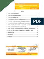 reglamento divisional de emergencia