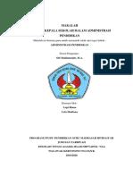 makalah administrasi pendidikan