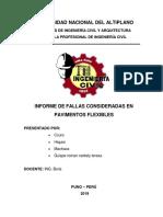 Informe de Fallas Pavimento Flexible