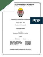 Informe Financiera