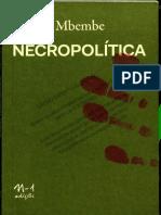 Necropolitica - Achille Mbembe