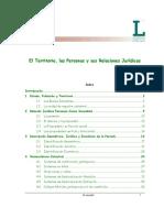 El Territorio Las Personas y Sus Relaciones Juridicas