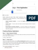 1 - Node.js First Application