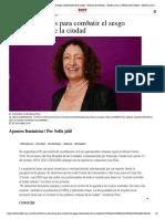Ana Falú, claves para combatir el sesgo androcéntrico de la ciudad