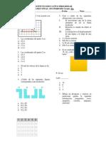 Examen Segundo Semestre Geometría 5to