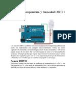 Sensor de Temperatura y Humedad DHT11 y DHT22