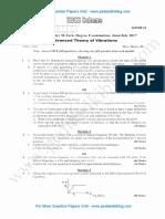 Advanced Theory of Vibrations July 2017 (2016 Scheme)