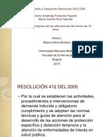 Crecimiento y Desarrollo Resolución 0412 2000