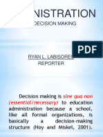 Administration as Decision Making