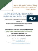 carbon neutral event by odisha solar alliance