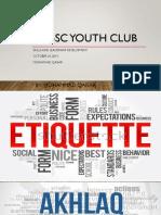 Muslim Youth - Ettiquette