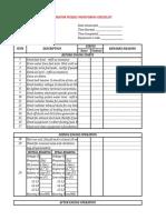 Generator PM Checklist