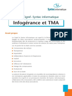 2004 - Charte CIGREF Syntec Informatique - Infogerance Et TMA Web