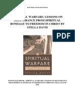 Spiritual Warfare Lessons on Deliverance From Spiritual Bondage to Freedom in Christ by Stella Davis