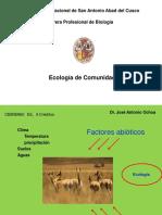 Unidad I. Ecología de Comunidades I.1