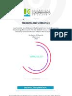 deformacion termica