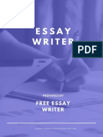 Qualities of good essay writer