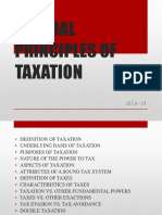 Taxation General Principles