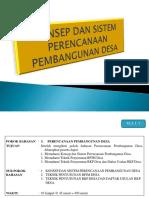 Konsep Dan Sistem Perencanaan Pembangunan Desa