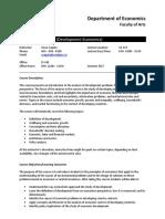 DevelECON337 S2017 LEC1 Outline