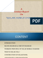 Solar Mobile Charging PPT