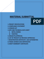 Material Submittal HANDRAIL