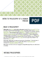 Intro to Philosophy of a Human Person PPT