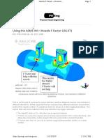 Using the ASME VIII-1 Nozzle F Factor (UG-37)