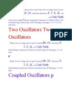 Coupled Oscillations