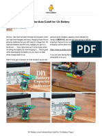 DIY Battery Level IndicatorAuto Cutoff for 12v Bat