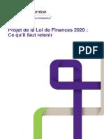 Projet de La Loi de Finances 2020_Fidaroc Grant Thornton