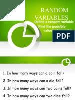1 Random Variables