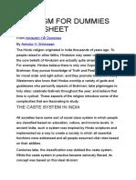 Hinduism for Dummies Cheat Sheet