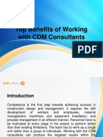 Top Benefits of Working With CDM Consultants