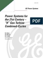 Turbine a gas GE classe HA