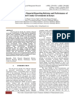 Relationship between Financial Reporting Reforms and Performance of Selected County Governments in Kenya