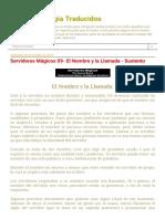 Textos de Magia Traducidos_ Servidores Mágicos 09- El Nombre y La Llamada - Sustento
