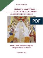 2019-09 Reig Pla-Carta Pastoral Es Cristo en Vosotros