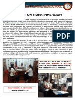 Report for Appreciation Program for Partners Immersion