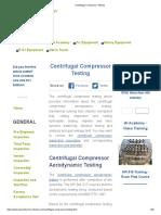 Centrifugal Compressor Commissioning