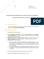 Difficultés de l'Entreprise_Prévention-Interne